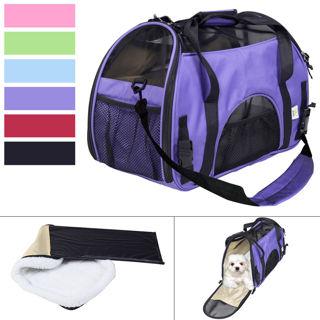 Large Pet Carrier OxFord Soft Sided Cat/Dog Comfort Travel Tote Shoulder Bag