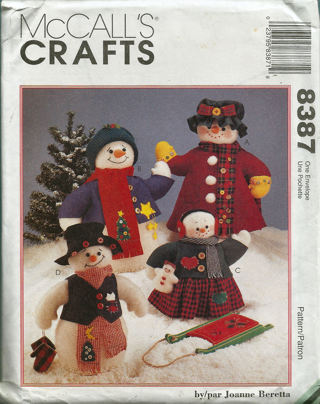 Free: Christmas Sewing Pattern Snowman Family McCall\'s - Sewing ...