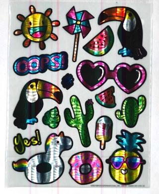 Shiney Retro Stickers # 3