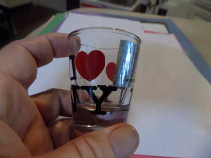 I love NY shot glass has official hollowgram on front