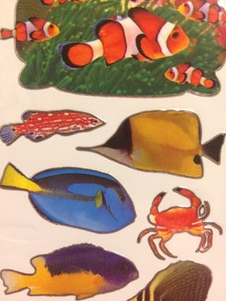 Fish sticker sheet