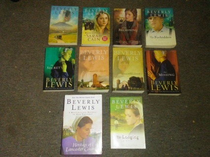 Lot of 10 BEVERLY LEWIS Contemporary Fiction Books