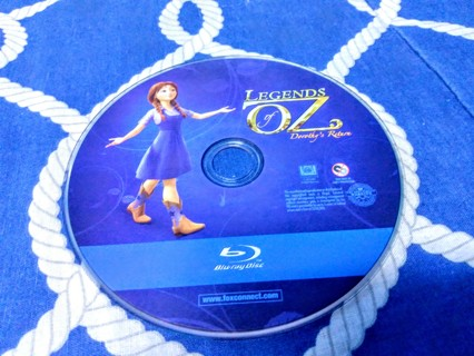 Legends of OZ - Blu Ray disc - children's animated - disc only