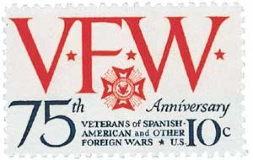 Mint US stamp 'VFW 75th Anniversary'