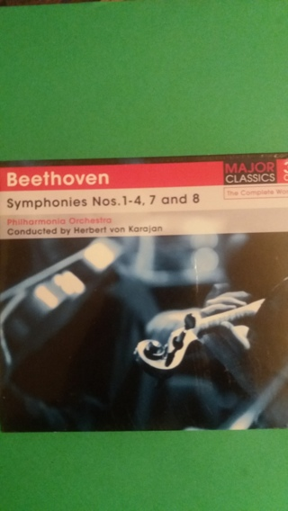 cd  beethoven  symphonies nos 1-4, 7 and 8  free shipping