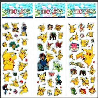 NEW Japanese Anime Pokemon Pop Up BUBBLE Stickers Super Cute! Winner FREE SHIPPING