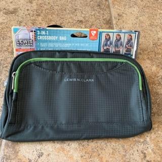 Lewis N. Clark 3 in 1 RFID Crossbody Waist Shoulder Bag