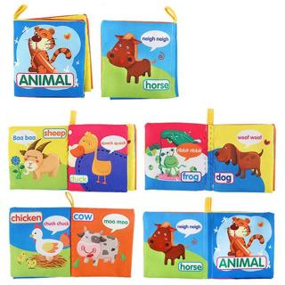 Baby Animal Cloth Book Toy Teether Educational Toys Newborn Baby Toys 0-24 Month