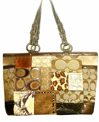 COACH #11495 - Patchwork East/West Gallery Tote!