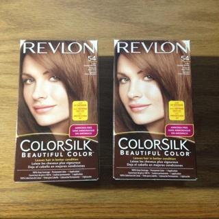 2 Revlon Colorsilk #54 Light Golden Brown Permanent Hair Color