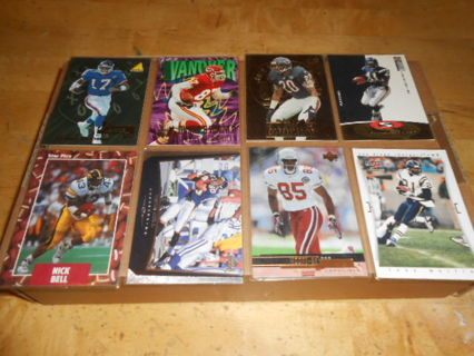 Lot of 8 Various Football Cards