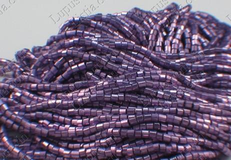 Purple Brushed Metallic Czech 10/0 2 Cut Hex Seed Beads
