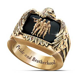 Unique 18K Gold Plated Eagle Ring Women Men Wedding Jewelry Party Gift Size 7-13