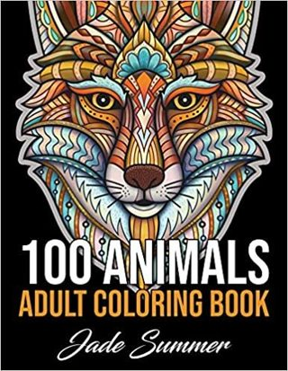 100 Animals: An Adult Coloring Book NEW
