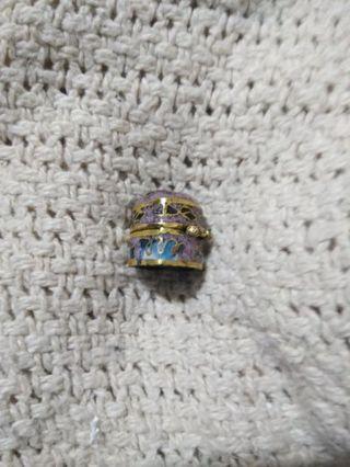 Tiny Vintage heart shaped box