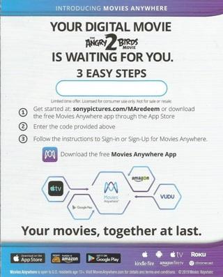 The Angry Birds Movie 2-Digital Code