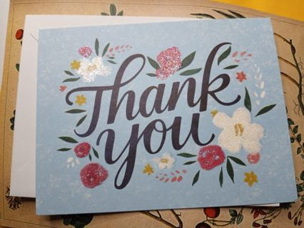 2 Floral Thank You Cards