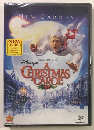 Disney's A Christmas Carol with Jim Carrey DVD Movie - Brand New Factory Sealed!