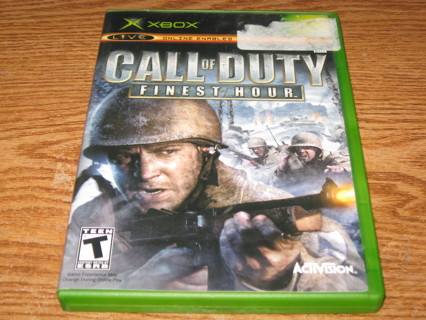 ORIGINAL XBOX CALL OF DUTY FINEST HOUR GAME!!!!