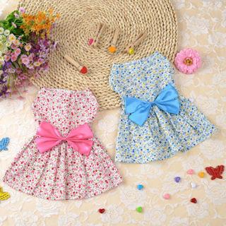 [GIN FOR FREE SHIPPING] Small Pet Dog Dress Tutu Skirt Cat Puppy Bow Princess