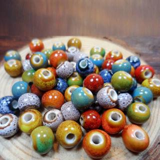 [GIN FOR FREE SHIPPING] 50Pcs Beads Ceramic Porcelain