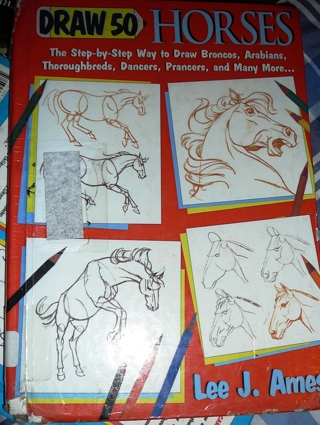 """""""How to Draw Horses"""" Discarded Book..great for lessons"""