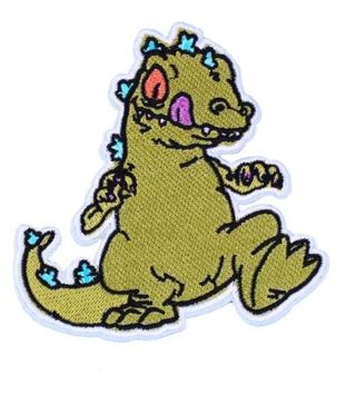 REPTAR Large Embroidered Iron On Patch New Rug Rats