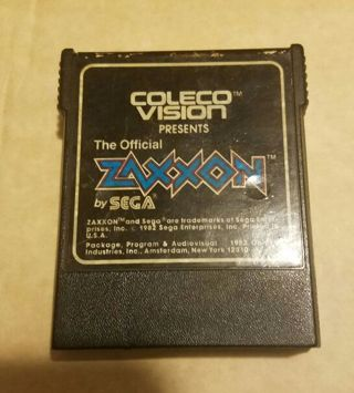 1982 Coleco Vision video game cartridge Zaxxon by Sega