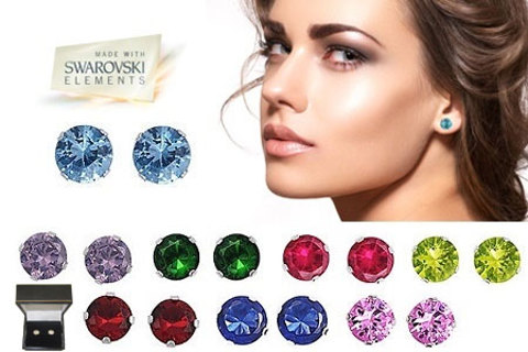 2 CARAT TW SWAROVSKI STONE STONE EARRINGS in Your Color Choice