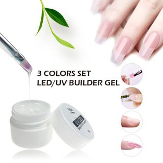 Lghzlink 3 colors Builder Gel for Nail Extensions Finger Extension UV Gel Polish Forms for Nail Ex