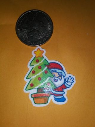 Santa saying fancy 1 pc self adhesive decal sticker lowest gins No refunds! No lower