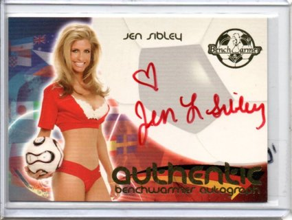 2006 Benchwarmer Jen Sibley World Cup Autograph