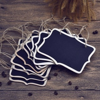 [GIN FOR FREE SHIPPING] 10PCs Mini Wedding Table Numbers Single Side Chalkboard Hanging