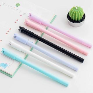 1pc Creative Stationery Student Pen Cute Cat Gel Pen 0.5mm Full Needle Black Ink Pen School Suppli