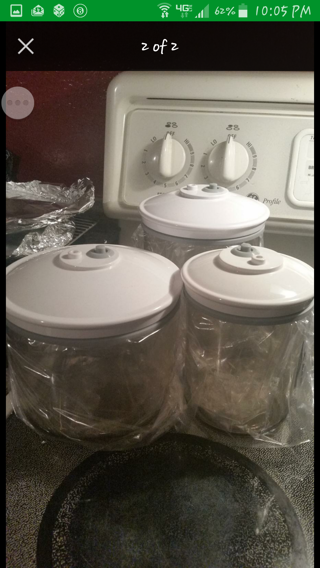 2 Food Savers Canister Sets