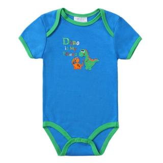 2018 Fashion Baby Romper Short Sleeves 100% Cotton Baby Pajamas Animal Cartoon Printed Newborn Bab
