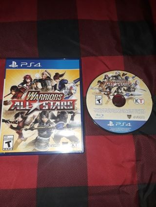 PS4 WARRIORS ALL STARS..ANIME GAME..NO SCRATCHES..VERY GOOD CONDITION..FREE SHIPPING WITH TRACKING