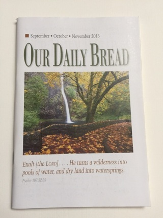 New Our Daily Bread Booklet! Free Shipping!!
