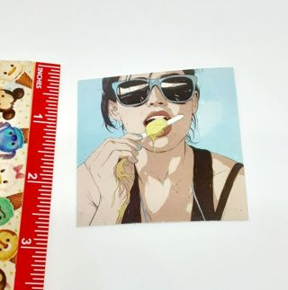 Lady with Melting popsicle Large sticker decal NEW
