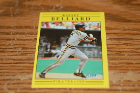 One Rafael Belliard 1991 Fleer Pittsburg Pirates Baseball Card