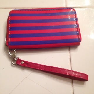 Red and blue cell phone wallet
