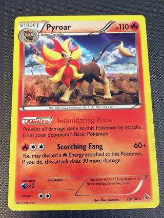 Free: Pyroar 20/106 Holo Rare XY: Flashfire Singles Pokemon