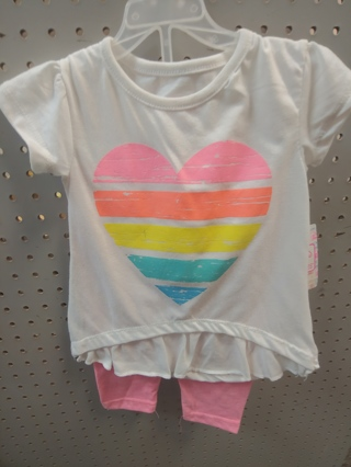 NWT! Swiggles - Baby Girls 2pc set Size: 2T 60% POLYESTER 40% COTTON