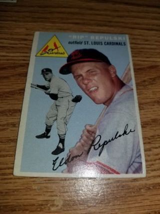1954 Topps Baseball Rip Repulski #115 St Louis Cardinals,VGEX condition,Free Shipping!