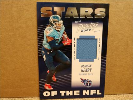 2020 PANINI PRESTIGE DERRICK HENRY JERSEY STARS OF THE NFL # SN-DH TENNESSEE TITANS