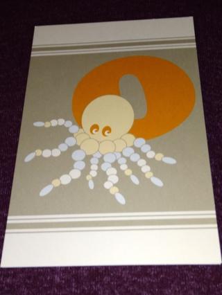 Alphabet Greeting Card - Octopus (O)