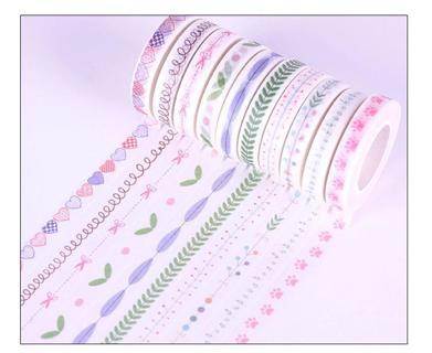 8mm Wide Fresh Style Various Patterns Slim Washi Tape DIY Scrapbooking Sticker Label Masking Tape