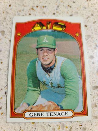 1972 Gene Tenace Oakland Athletics vintage baseball card