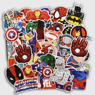 50 PCS Super Hero Cartoon Sticker