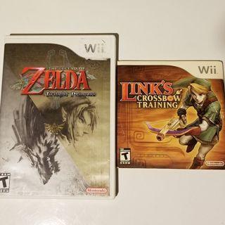 2 Legend of Zelda Nintendo Wii games